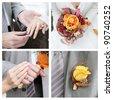 Set of elegance wedding photos - stock photo