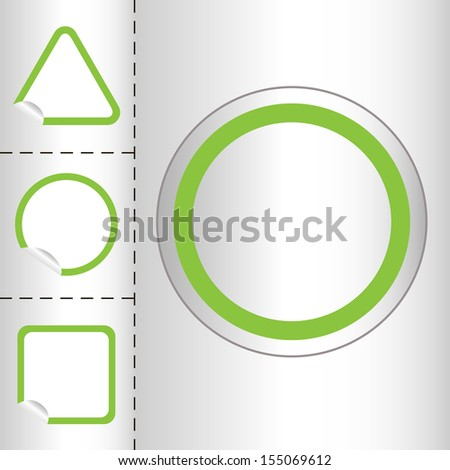 set of empty web icon button in circle and square shape. small sticker windows. bitmap