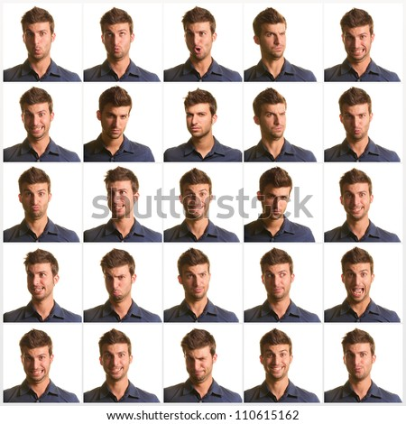 Set Of Eye Expression - stock photo