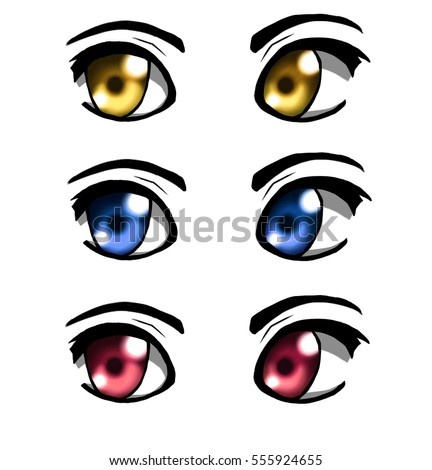 Set of eyes anime version.