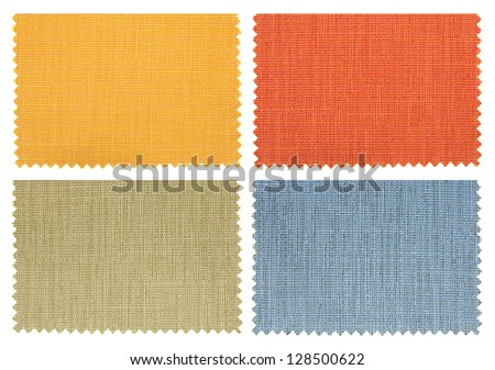 set of fabric swatch samples texture - stock photo