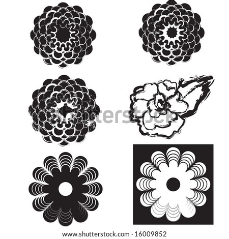 Set of flower designs
