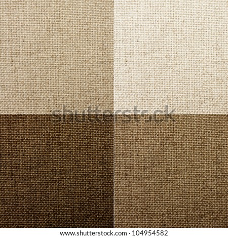 set of four natural canvas textures.