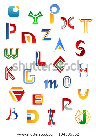 Set of full alphabet symbols and letters, such logo. Vector version also available in gallery