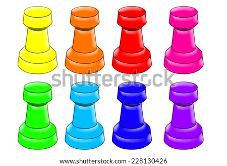 Set of game figure - stock photo
