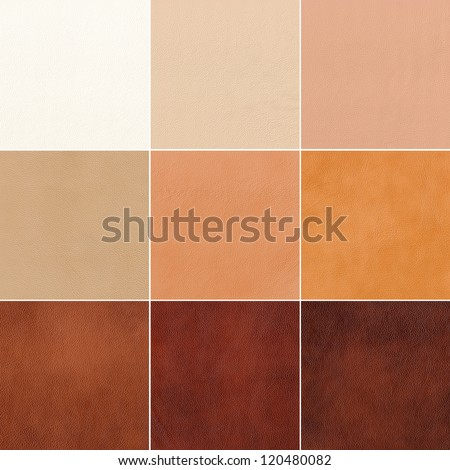 set of genuine leather - stock photo