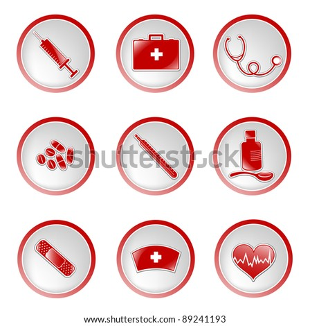 set of glossy medical icons (raster version)