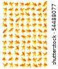 Set of goldfishes isolated on a white background - stock photo