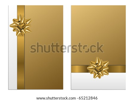 Set of greeting cards - stock photo