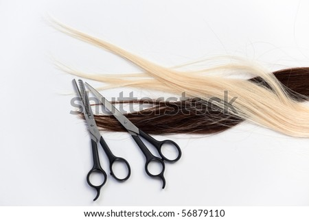 Set of hair and tools for hair style - stock photo