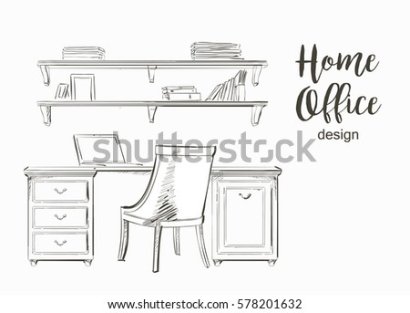 Sketch Chairs Stools Stock Images RoyaltyFree Images Vectors