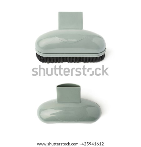 Set of Hand held small vacuum brush head cleaner isolated over the white background - stock photo
