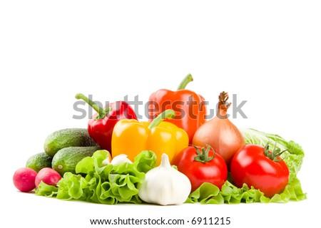 Set of healthy fresh vegetables - stock photo