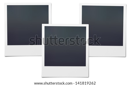 Set of High Resolution blank . Isolated on white for your brochure or web ads. - stock photo