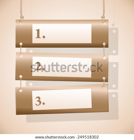 Set of horizontal banners on the ropes for web design with place for text. - stock photo