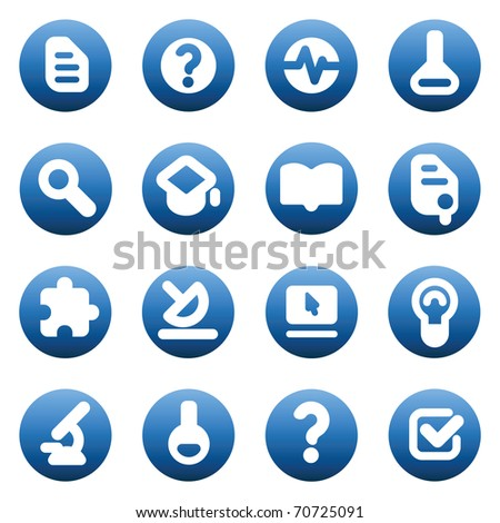 Set of icons for science and education Raster version. Vector version is also available.