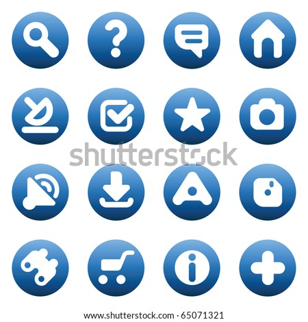 Set of icons for websites. Raster version. For vector version of this image, see my portfolio. - stock photo