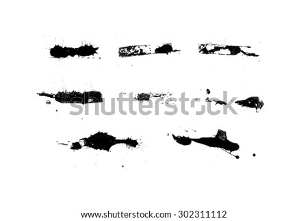 Set of ink stains - stock photo