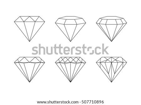 set diamonds icons vector illustration stock vector