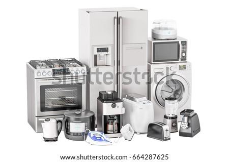 set kitchen appliances 3 d renderingのイラスト素材 664287625