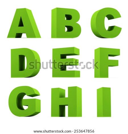 Set of letters isolated on white. - stock photo