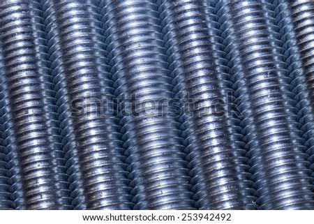 Set of lSet of long screws as industrial backgroundong screws as industrial background - stock photo