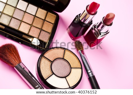 Set of make-up cosmetics