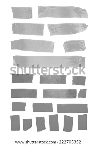 Set of masking tape on white background - stock photo