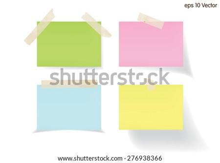 Set of memo, Vector - stock photo