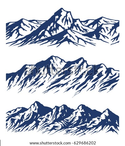 Charming mountain illustration vector images