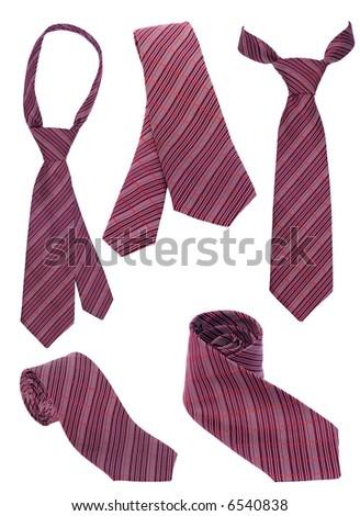 Set of  neck ties - stock photo