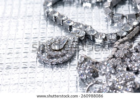 Set of necklace  - stock photo