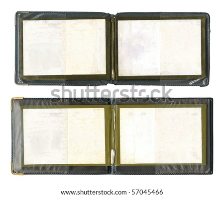 Set of open certificates isolated over white - stock photo