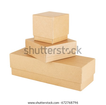 Set of Paper Box isolated on white background