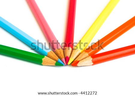 Set of pencil isolated on white background. Copy space, others in my portfolio - stock photo