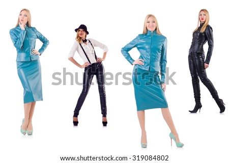 Set of photos in fashion concept - stock photo