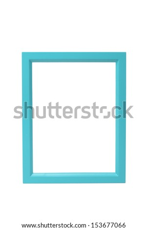 set of picture frames on white background  - stock photo