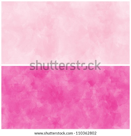 Set Of Pink Abstract watercolor background - stock photo