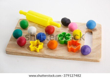 Set of Plasticine and accessories for children