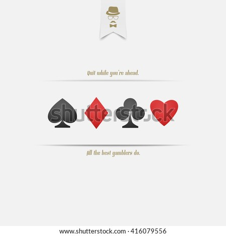 set of playing card suits isolated on white background. banner design. hearts, spades, diamonds and clubs symbol. casino and blackjack concept - stock photo