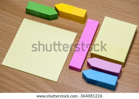 Set of Post-its - stock photo