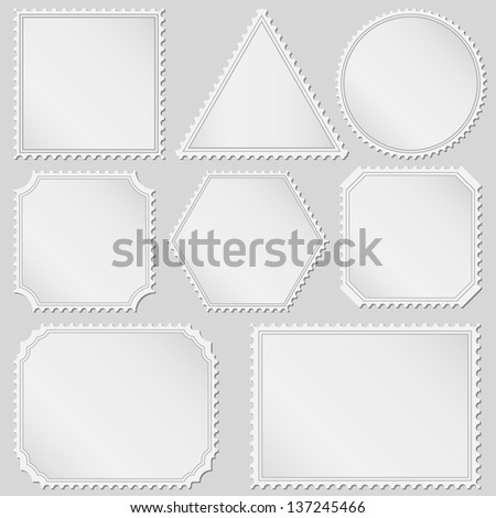 Set of postage stamps - stock photo