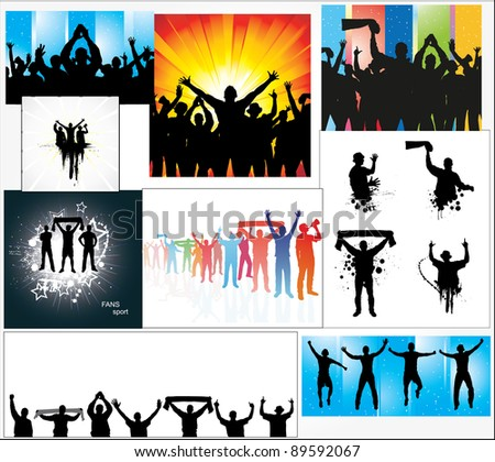 Set of posters for sports championships - stock photo
