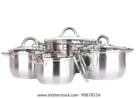set of pots and pans