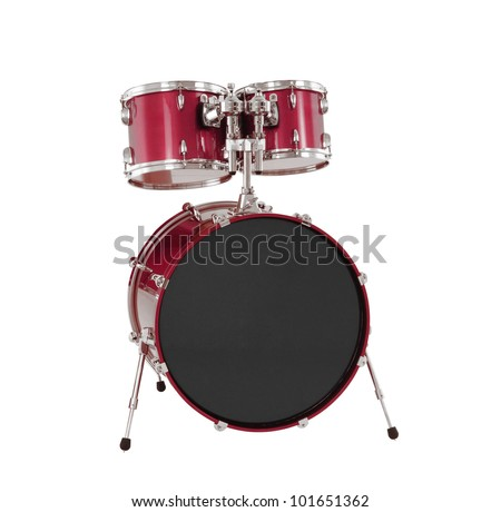 Set of Red drums isolated - stock photo