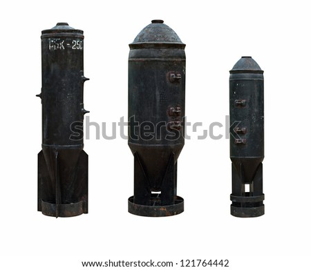 Set of 3 rocket bombs - stock photo