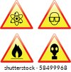 Set of scientific signs - raster version (vector also available) - stock vector