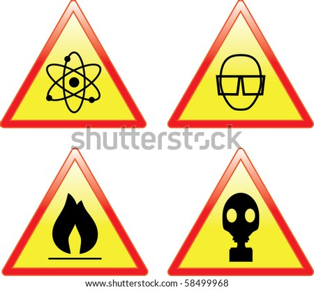 Set of scientific signs - raster version (vector also available) - stock photo