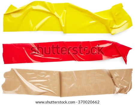 Set of scotch tape isolated on white background - stock photo