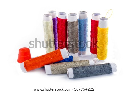 Set of sewing threads - stock photo